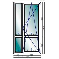 Дверь ПВХ балконная